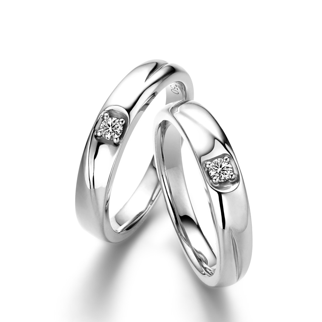 The Vow Wedding Ring White Adelle Jewellery