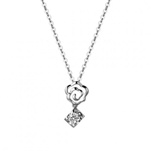 Diamond Rose Pendant
