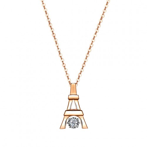 Eiffel Diamond Pendant