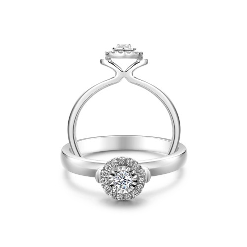 Halo Solitaire Ring