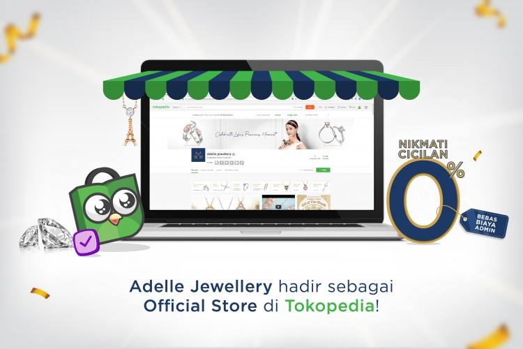 Adelle Jewellery is now available on Tokopedia!